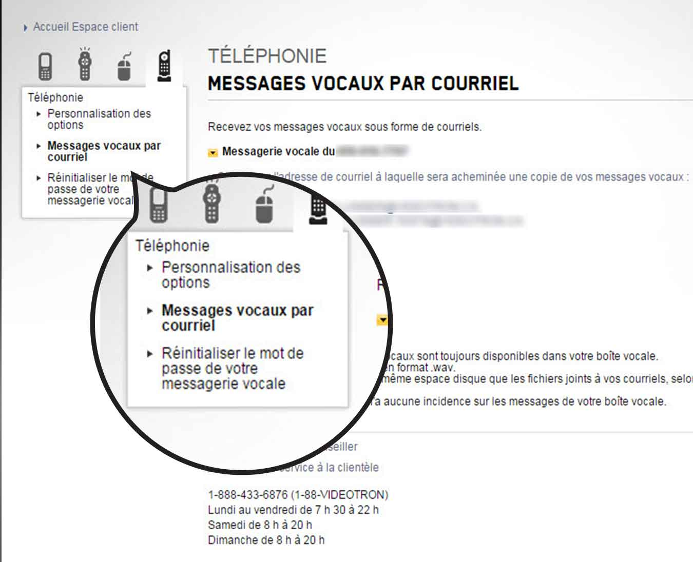 ecouter message accueil portable